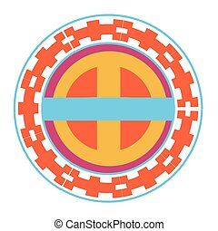 china cirkel, vector, ontwerp, vrijstaand