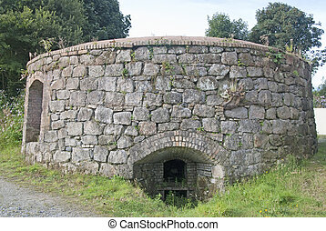 China Clay Kiln - A Stone Built Kiln for drying China Clay...
