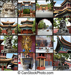 China - Collage. Beautiful landscapes and atmospheres of...
