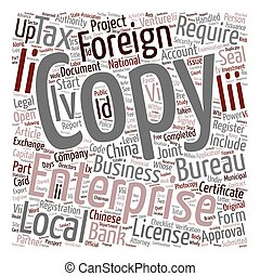 China Company Start up Checklist Part 2 text background wordcloud concept