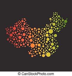 China connectivity data map.