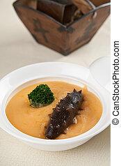 china delicious food??sea slug and vegetable - food in...