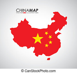 China design over gray background, vector illustration