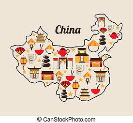 China design over white background, vector illustration