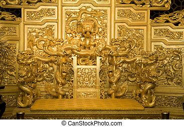 china, emperor's, trono