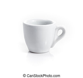 china espresso cup isolated on a white background