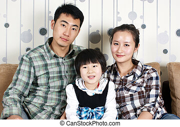 china, família, feliz