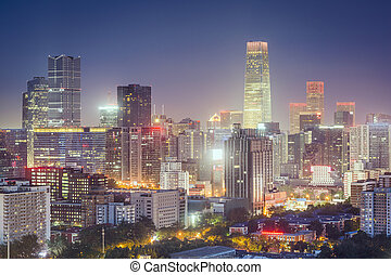 china, financiero, beijing, distrito