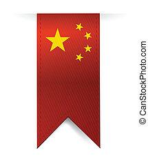 china flag banner illustration design over a white background