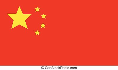 china Flag for Independence Day and infographic Vector illustration.