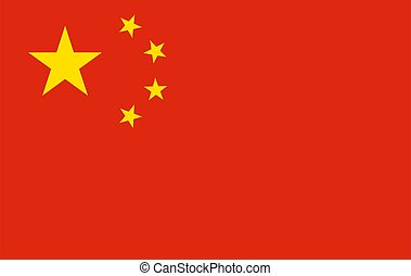 National China flag. Vector illustration. EPS10.