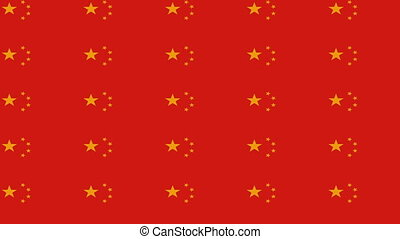 China flag on infinite zoom
