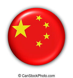 China Flag - World Flag Button Series - Asia - China(With...