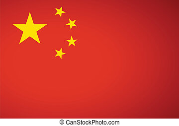 China Flag. Vector illustration.