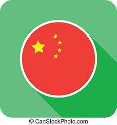 china flat flag icon