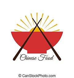 china food logo on white eps 10 design
