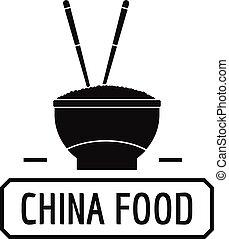 China food logo, simple black style - China food logo....