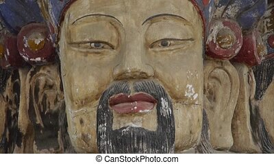 China Fortuna sculpture in temple.historical-sculpture &...
