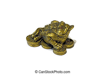 China frog souvenir - China frog on coins