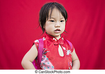 China boy in traditional chinese red tang suit greeting stock image china girl in traditional chinese red tang suit greeting m4hsunfo
