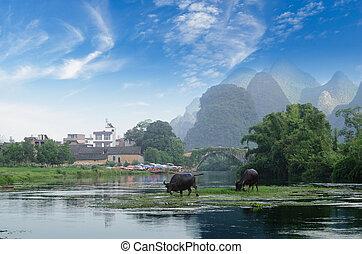 China Guilin Yangshuo rafting