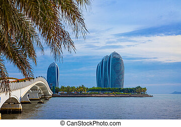 China Hainan Sanya Modern Architecture Hotels View