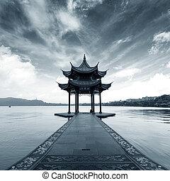 China Hangzhou West Lake Landscape - chinese ancient...