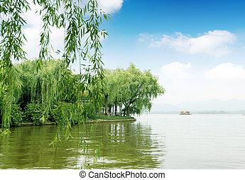 China Hangzhou West Lake - Willow China Hangzhou West Lake