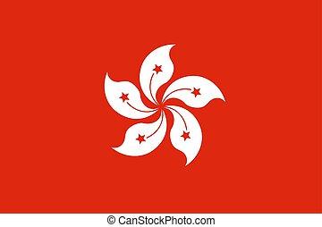 china, hong, vector, bandera, kong.