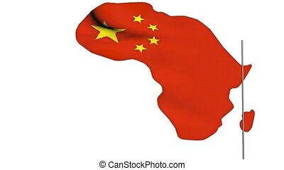 China invest in Africa concepts, 3d animation