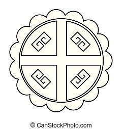 china kreis, vektor, design, freigestellt