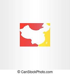 china logo map vector icon