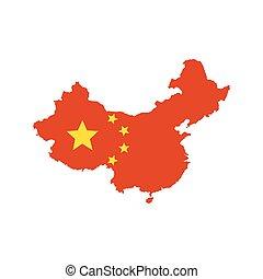 China map and flag