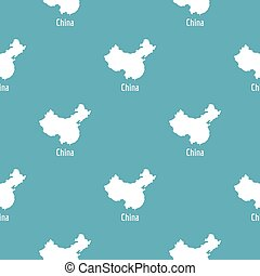 China map in black simple