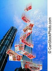China Market - Illustration of the economic market in China...