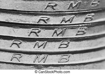 china money coins background, RMB