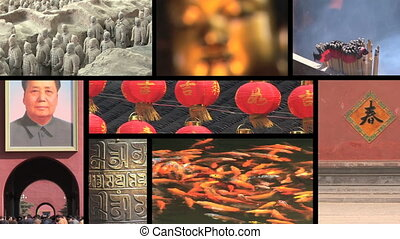 China Montage - Eight clips of China. Forbidden city, Terra...