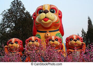China New Year statues