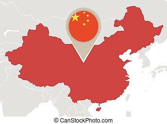 China on World map