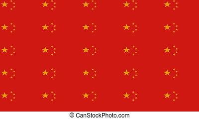 china, oneindig, zoom, vlag