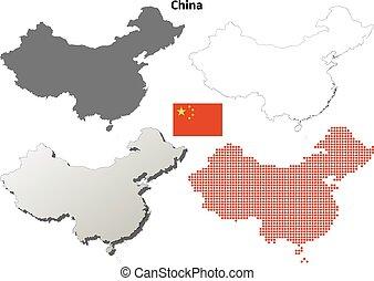 China outline map set