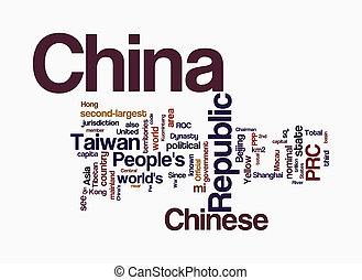 china, palabra, nubes