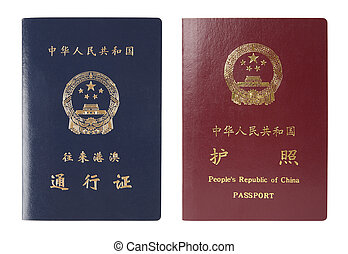 China passport - two chinese passport, which the blue for ...