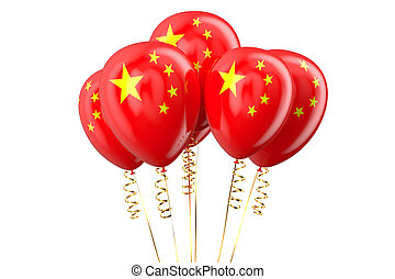 China patriotic balloons, holyday concept