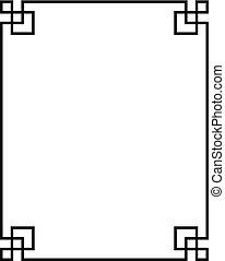china pattern frame 03