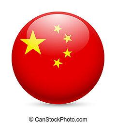 china, redondo, lustroso, ícone