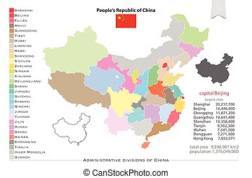 china regions - People's Republic of China isolated maps and...