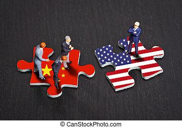china, relaciones, estados unidos de américa, entre