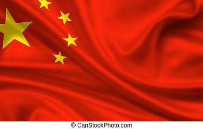 china, república, gente