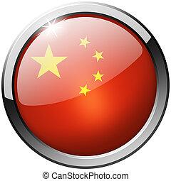 China Round Metal Glass Button